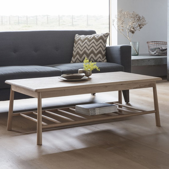 Wycombe Rectangular Wooden Coffee Table In Oak