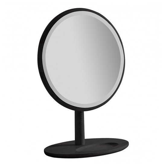 Wycombe Round Dressing Mirror In Black_1