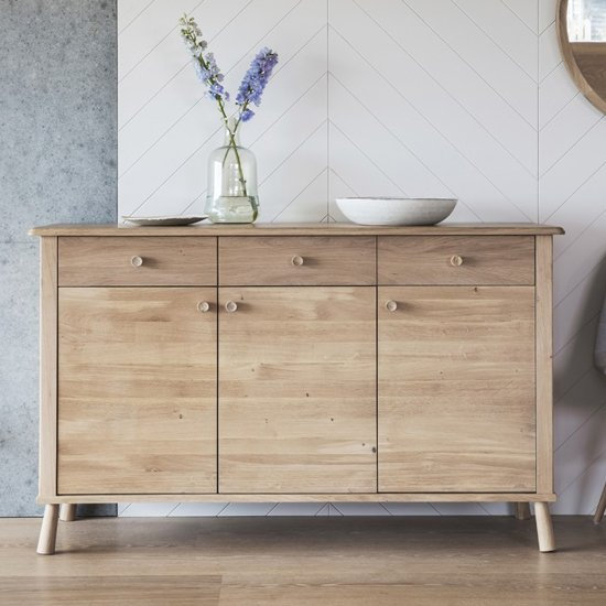 Wycombe Wooden Sideboard In 3 Doors And 3 Drawers