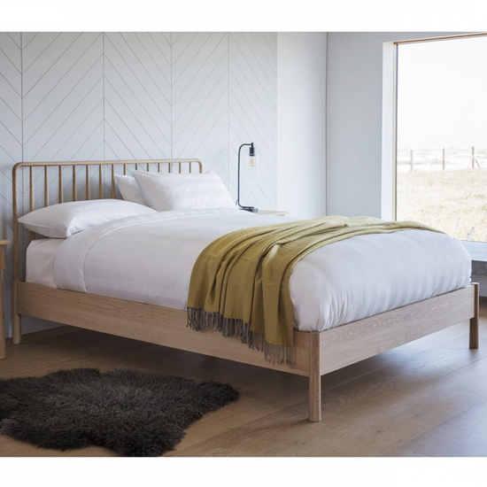 Wycombe Wooden Super King Size Bed In Oak