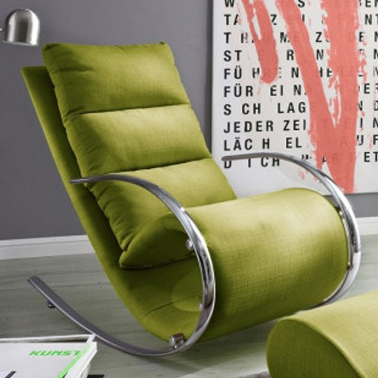 York Fabric Recliner Chair In Green