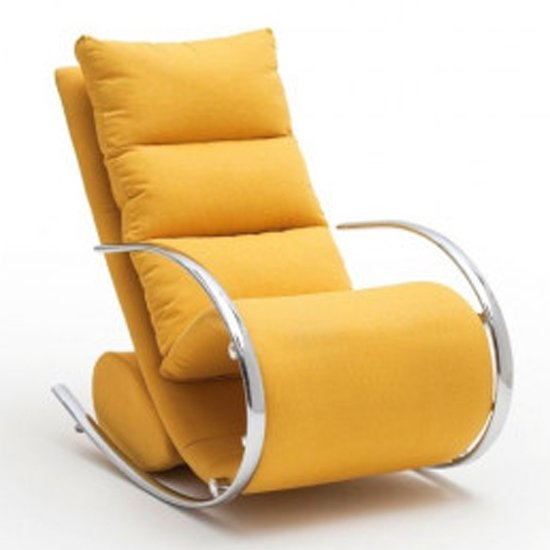 York Fabric Recliner Chair In Yellow_2