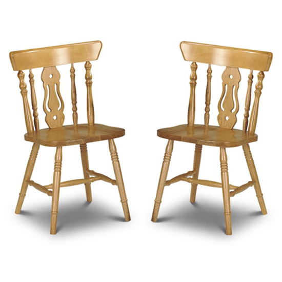 Yorkshire Honey Lacquered Fiddleback Dining Chairs In Pair