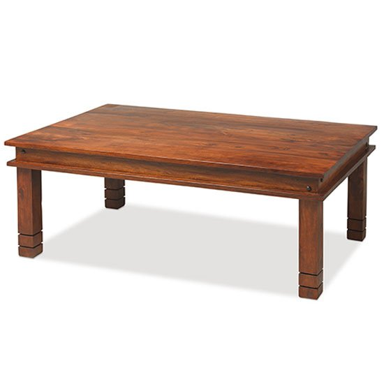 Zander 120cm Wooden Coffee Table In Sheesham With Square Legs_1