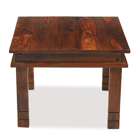 Zander 60cm Wooden Coffee Table In Sheesham With Square Legs_2