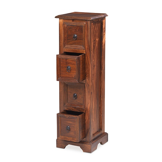 Zander Wooden CD DVD Unit In Sheesham Hardwood_2
