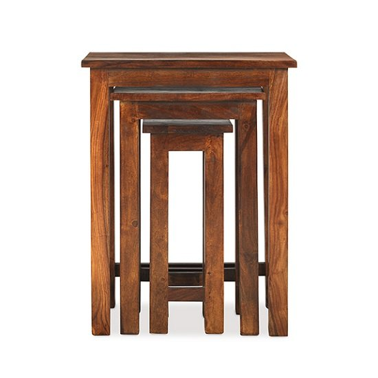 Zander Wooden Nest Of Tables Tall In Sheesham Hardwood_3
