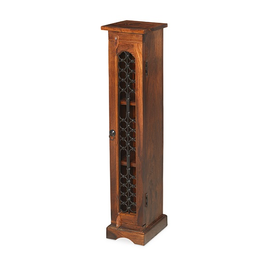 Zander Wooden CD DVD Unit Tall In Sheesham Hardwood