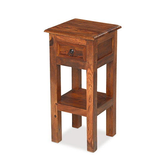 Zander Wooden Telephone Table In Sheesham Hardwood_1