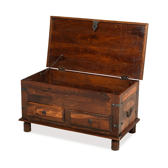 Zander Wooden Storage Coffee Trunk In Sheesham Hardwood_2