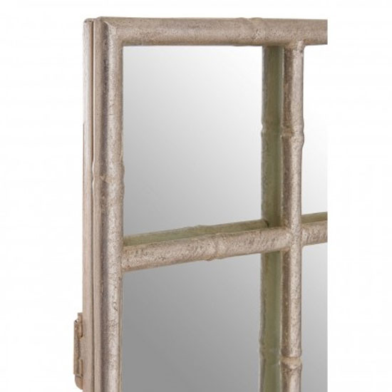 Zaria Square Panelled Wall Bedroom Mirror In Silver Frame_2