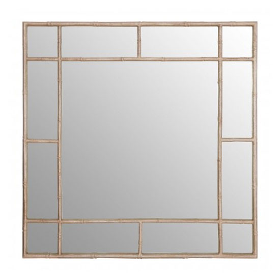 Zaria Square Panelled Wall Bedroom Mirror In Silver Frame_1