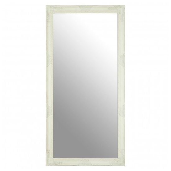 Zelman Wall Bedroom Mirror In White And Brushed Gold Frame