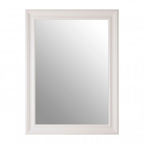 Zelman Wall Bedroom Mirror In Chic White Frame