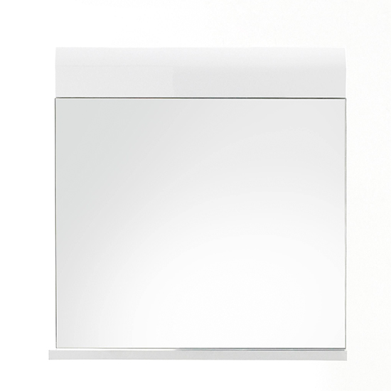 Zenith Bathroom Wall Mirror In White With Gloss Fronts_2