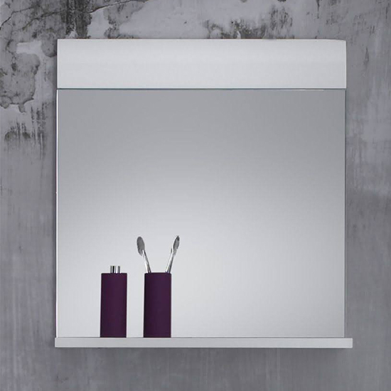 Zenith Bathroom Wall Mirror In White With Gloss Fronts_1