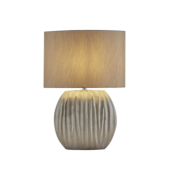 Zenna Silver Table Lamp With Silver Oval Shade