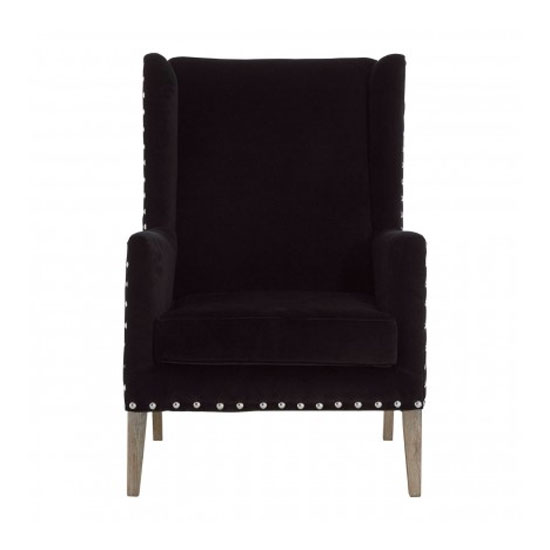 Zensington Fabric Armchair In Black