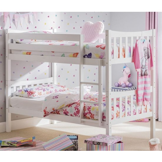 Zodiac Wooden Bunk Bed In Bright White