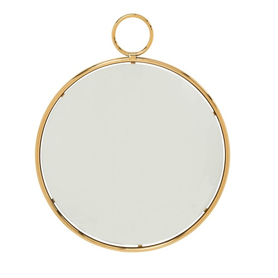 Zoey Stylish Wall Mirror Large In Gold Finish