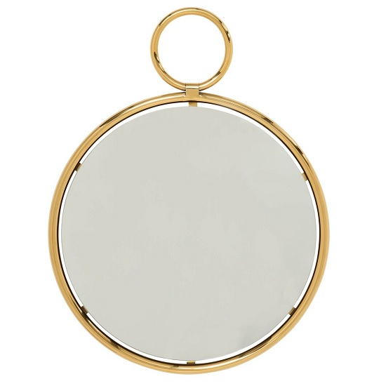Zoey Stylish Wall Mirror Medium In Gold Finish