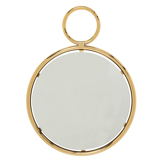 Zoey Stylish Wall Mirror Small In Gold Finish