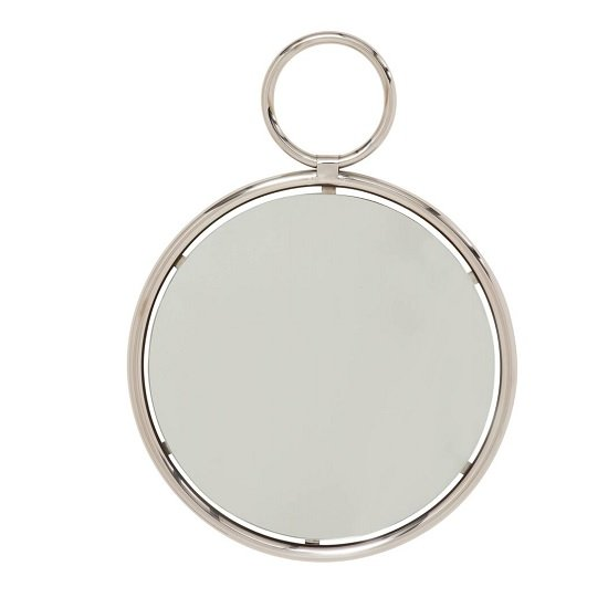 Zoey Stylish Wall Mirror Small In Silver Finish