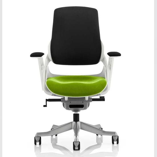 View Zure black back office chair with myrrh green seat
