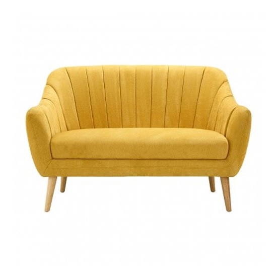 Zurichy 2 Seater Fabric Sofa In Yellow