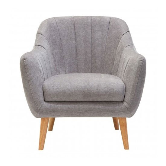 Product photograph showing Zurichy Fabric Armchair In Grey