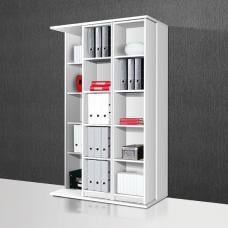 Vittoria Expandable Sliding Shelving Unit In White