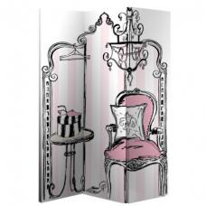 Boudoir Canvas Room Divider