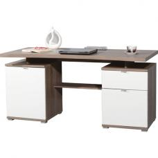 Lance Wooden Computer Desk in Dark Oak