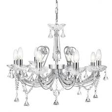 Lafayette Chrome Chandelier With Crystal Column And Buttons