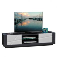 Quatro Large Dark Gray Wooden LCD TV Stand With LED Light