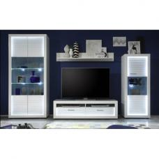 Living Room Furniture White Gloss linea living room furniture set 1 in white 12850 furniture