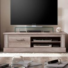 Montreal Wooden TV Stand In Monument Canyon Oak With 1 Drawer