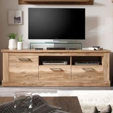 Montreal Lowboard TV Stand In Walnut Satin With 2 Drawer
