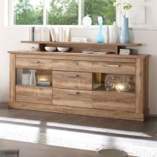 Montreal Sideboard In Walnut Satin With 2 Door And LED Light