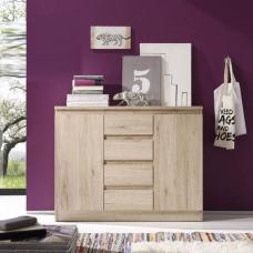 Armadio Oak Finish 2 Door Sideboard With 4 Drawers