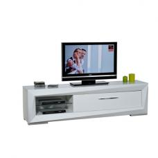 Brooky White Sheen Finish LCD TV Stand With 1 Drawer