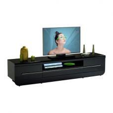 Fiesta Black High Gloss Plasma TV Stand With LED Lights