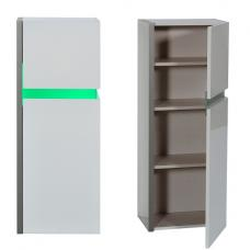 Crossana Wall Mount Storage Cabinet In White Gloss With LED