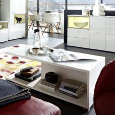 Cadiz Coffee Table Rectangular In White With High Gloss Top