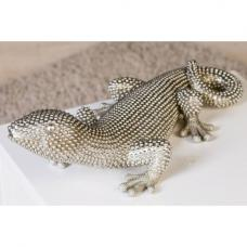 Gecko Carlo Poly Ornament In Silver