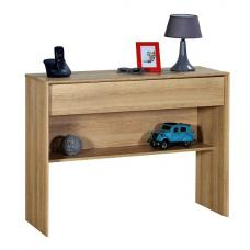 Peora Wooden Console Table In Oak With 1 Drawer