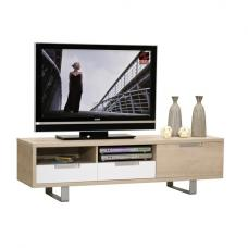 Sonora TV Cabinet In Oak With 1 Door And 2 Drawer in White Front
