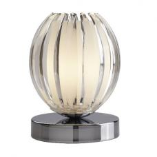 Chrome Touch Table Lamp With Clear Acrylic And Frosted Glass