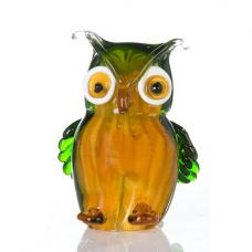 Owl Sculpture In Multicoloured Glass