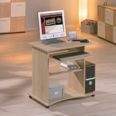 Wenington Wooden Computer Desk In Sonoma Oak With Castors